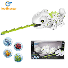 LeadingStar Remote Control Chameleon 2.4GHz Pet Intelligent Toy Robot For Children Kids Birthday Gift Funny Toy RC Animals