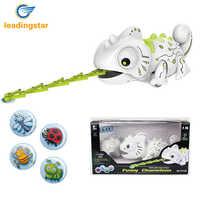 LeadingStar télécommande caméléon 2.4GHz Pet Intelligent jouet Robot pour enfants enfants cadeau d'anniversaire drôle jouet RC animaux