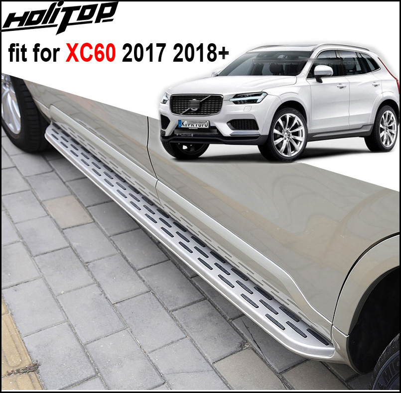 running board side step nerf bar for Volvo newest XC60 2018 six colors for choices 5years