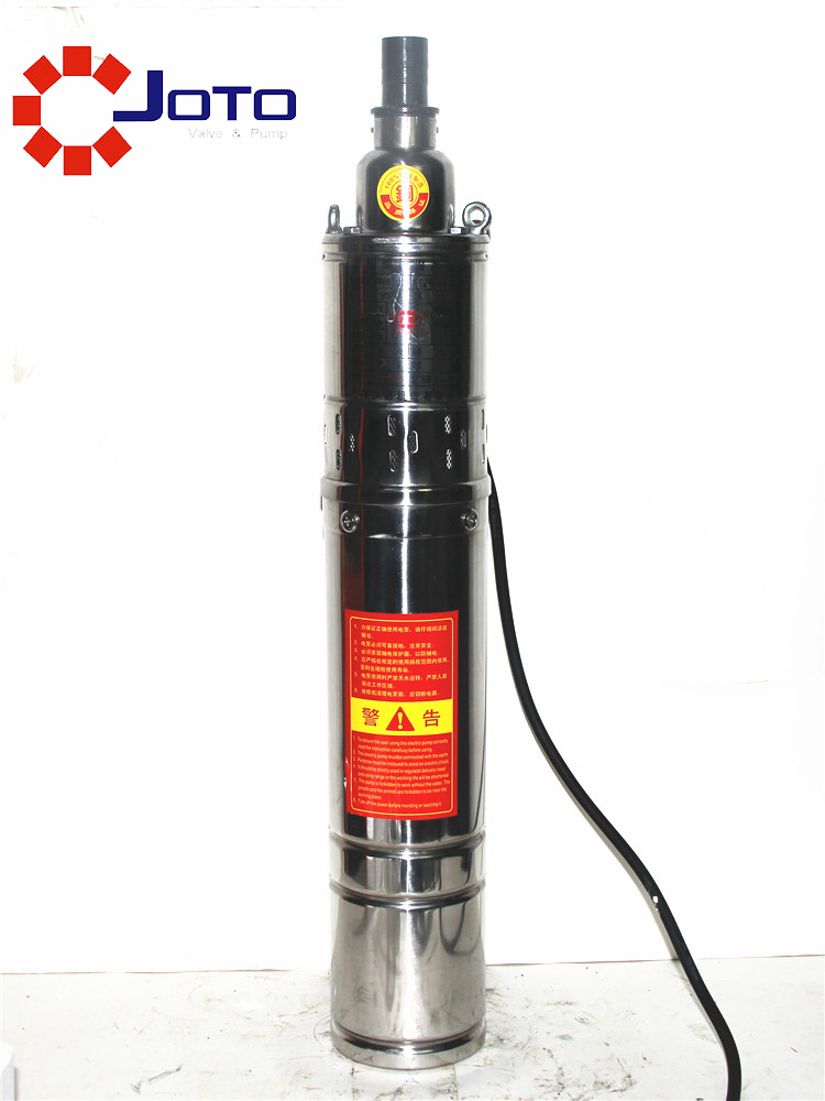 220V Single Phase Stainless Steel Screw Pump Household Small Electrical Submersible Pump High Delivery Range Deep