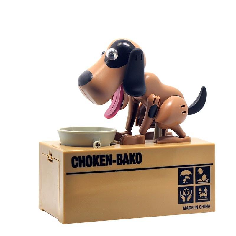 1 Pc Robotic Hund Münze Geld Sparen Box Nette Keramik Andenken Piggy Bank Cent Penny Spardose Spielzeug Für Kinder Kinder Geschenke