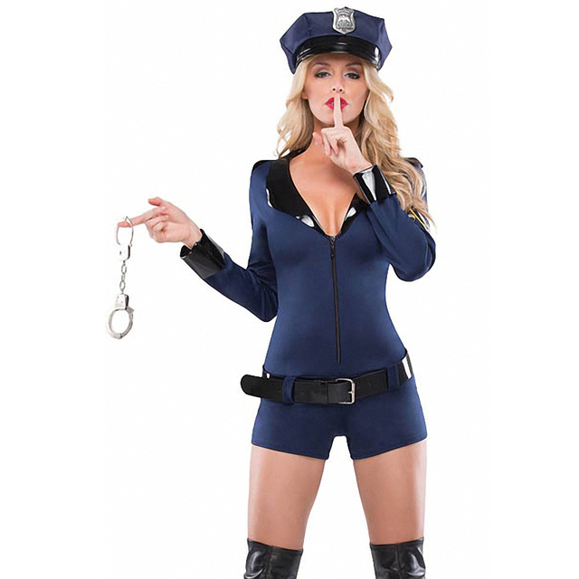 Police u0026 Firefighter Halloween 2016 Coquette Womenu0027s Cop Costume  sc 1 st  AliExpress.com & Police u0026 Firefighter Halloween 2016 Coquette Womenu0027s Cop Costume-in ...