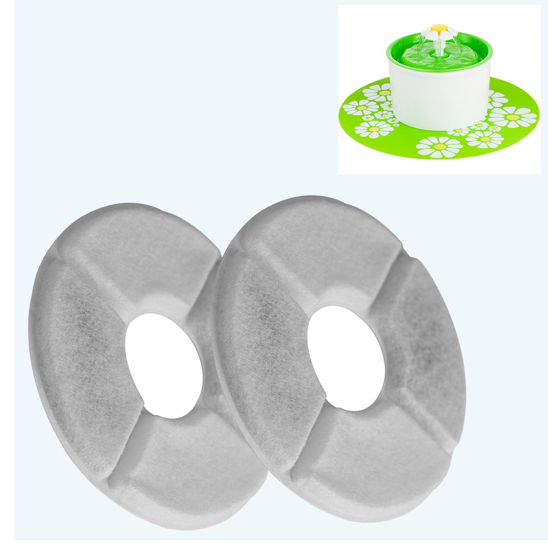 2pcs/lot Flower Cat Fountain Filter Activated Carbon Filter Special For Automatic Dog Cat Water Feeder Fountain Accessories