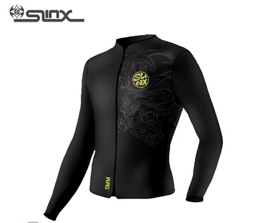 SLINX RivaRanger 1109 5mm Neoprene Men Scuba Diving Surfing Water Craft Boating Spearfishing Fleece Lining Warm Jacket Wetsuit slinx men women 1109 5mm neoprene fleece lining warm jacket wetsuit kite surfing windsurfing swimwear boating scuba diving suit