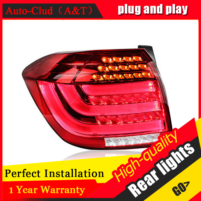 Car Styling LED Tail Lamp for Toyota Highlander Taillights 2012-2014 Rear Light DRL+Turn Signal+Brake+Reverse auto Accessories