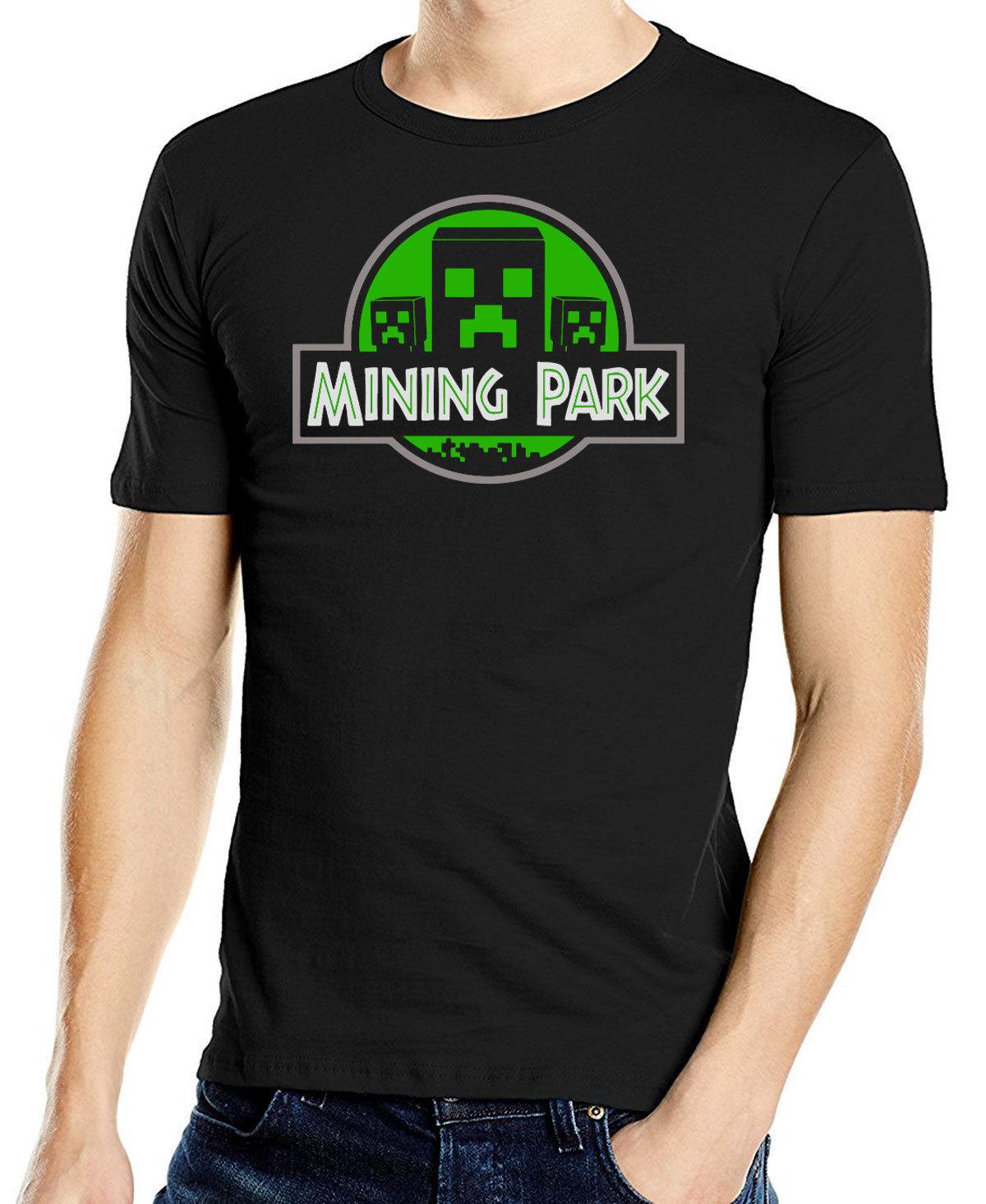 Mining Park Geek Gaming T-Shirt Retro 8 Bit Game T Shirt Adults T shirt High Quality