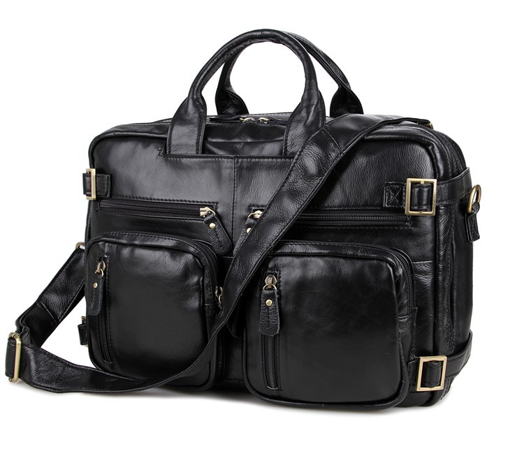 Nesitu 100% Guarantee Real Genuine Leather Men Messenger Bags 14'' Laptop Briefcase Portfolio Business Travel Bag #M7026 nesitu good quality vintage men genuine leather briefcase messenger bags portfolio business travel 14 laptop bag mw j7092 2