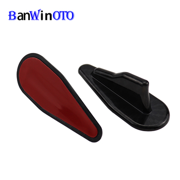 1 pcs Car Tuning EVO Styling Shark Fin Diffuser Spoiler Wing Windshield Vortex Generator Universal for Roof Windscreen Bumper image