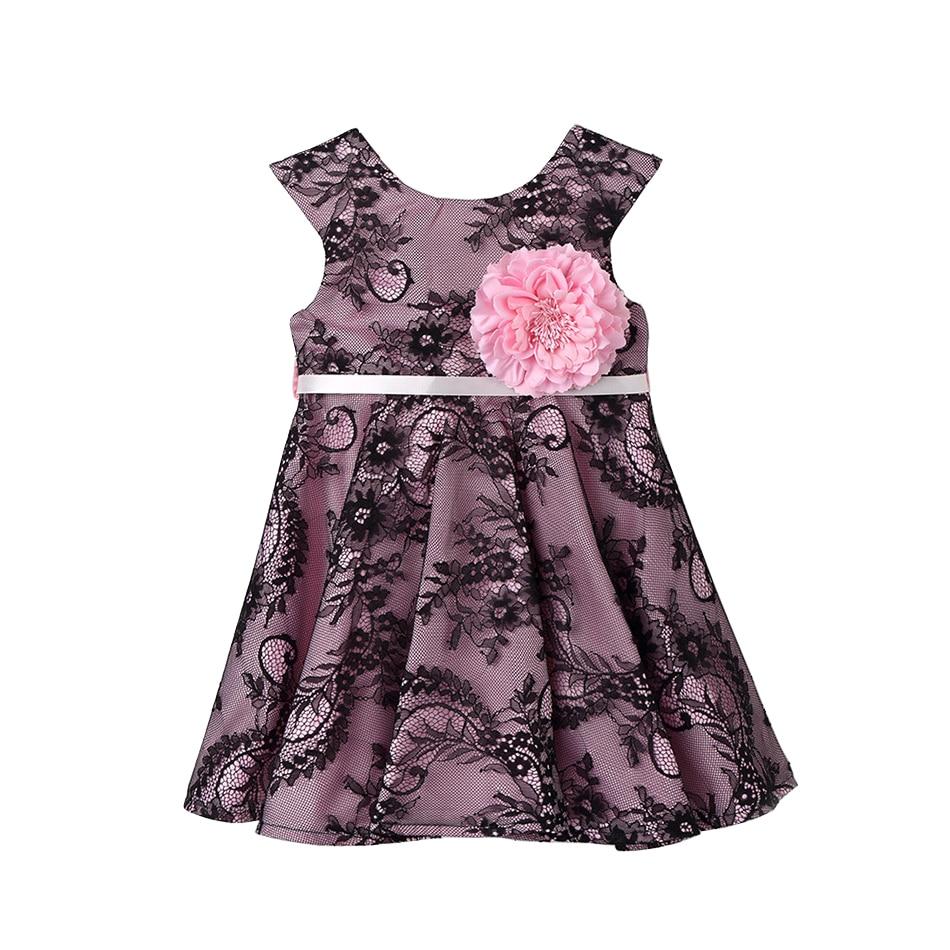 Baby Girl Party Mesh Dress Children Evening Clothing 2017 Spring/Autumn Costume Kids Princess Chiffon Lace Dresses 1-5T XDD2797