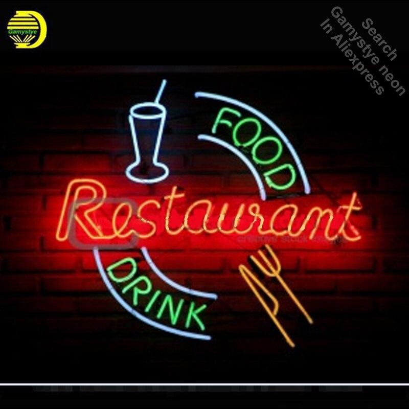 Enseigne au néon pour nourriture boisson Restaurant Tube néon vintage entreprise signe artisanat lampe magasin affiche cadeaux lumière lampe de poche signe