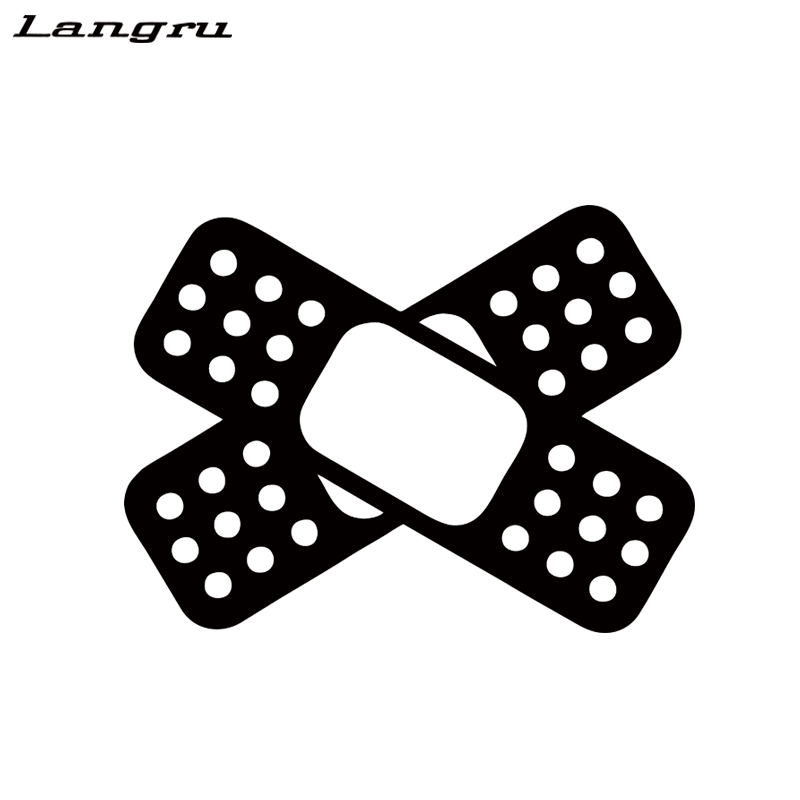 "2 4/"" X-Shape Cross Bandaid Band-Aid Car Bumper Scratch Cover Vinyl Stickers"