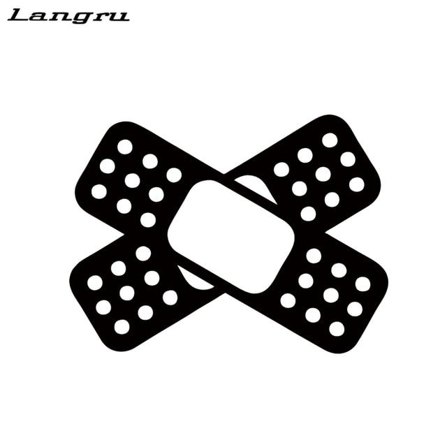 Langru bandaid cross sticker funny scratch dent car styling drift lowered vinyl decal car accessories decorative