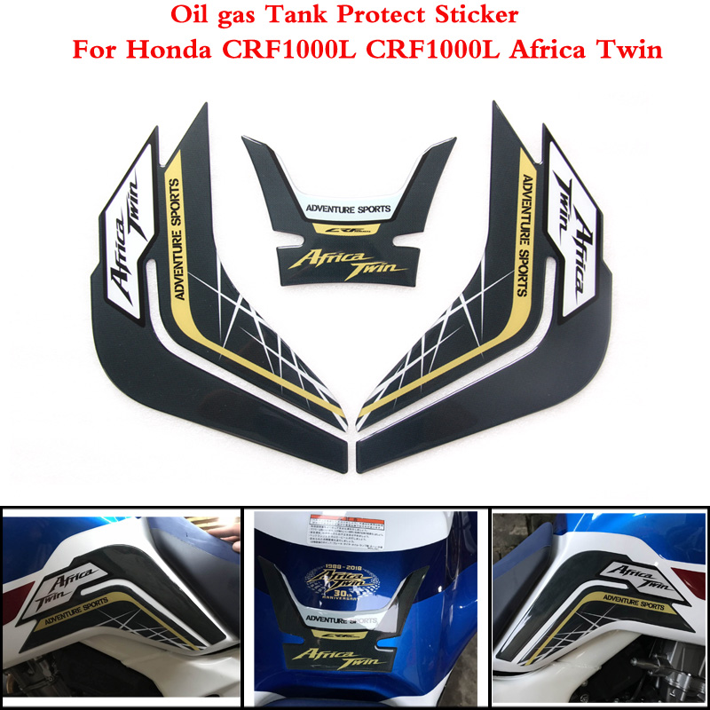 2 Color For Honda CRF1000L CRF 1000L CRF1000 L Africa Twin 2014-2019 Motorcycle Tank Pad Protector Sticker Fish Bone Sticker