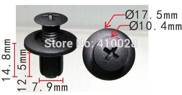 shhworldsea auto plastic fastener Intake port skirts bumper wheel fender boards buckle for hyundai for kia for mazda for ford