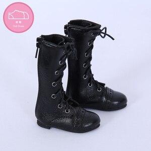 Image 4 - Buty dla lalki BJD 1 para 6.5cm PU skórzane buty moda Mini zabawka koronki brezentowych butów 1/4 lalki dla Fairyland Luts lalki akcesoria