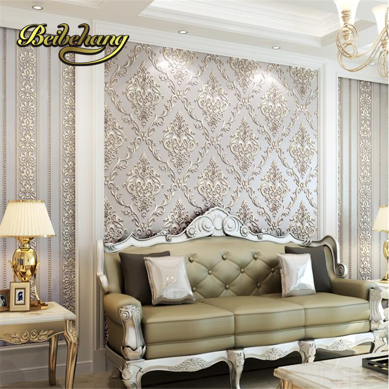 beibehang European - style vertical stripes AB version of the three - dimensional living room bedroom  background wallpaper comprehensive three dimensional cbct analyses of the tm joint