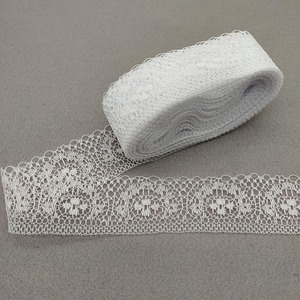 Hot 10 Yards High Quality White Lace Ribbon Tape 40MM Lace Trim DIY Embroidered For Sewing Decoration African Lace Fabric Ribbon