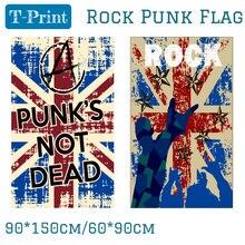 90X150CM Punk Rock Music Bar Band Home Office Flag 3x5ft Banner Polyester огромный российский флаг 3x5ft 90x150cm из россии