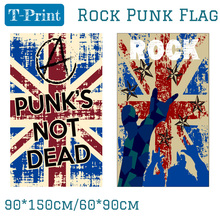 Free shipping 90X150CM Punk Rock Music Bar Band Home Office Flag 3x5ft Banner Polyester