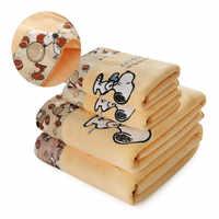 AHUAPET Pet Dog Towel Sofa Dog/Cat Bath Print Towel Microfiber Embroidery Puppy Towel Super Absorbent Soft Cartoon Towel E