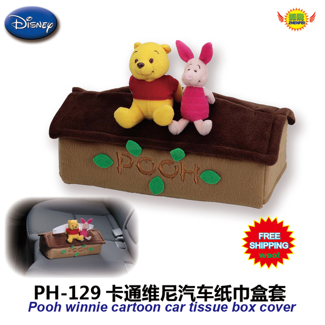 Acessórios do carro dos desenhos animados urso pequeno carro com uma tampa da caixa de tecido PH-129 freeshipping