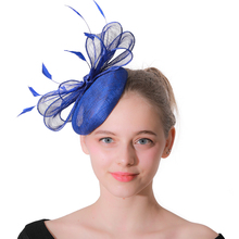 Fascinator Blue Hats Wedding Fedoras Vintage Women Girls Felt Top Jazz Hat Church Jockey Club Bucket For Girl