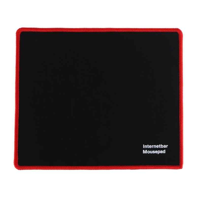 Hot 25*21 Cm Mouse Pad Hitam Kunci Merah Tepi Karet Speed Gaming Mouse Pad untuk PC Laptop Komputer hitam Permainan Mousepad Micepad Baru