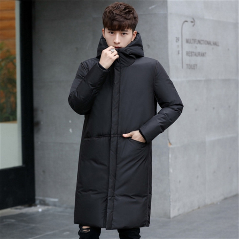 Male white   down   Jacket brand clothing hooded black Gary long warm white duck   down     coat   male   coats   New thick winter Windproof