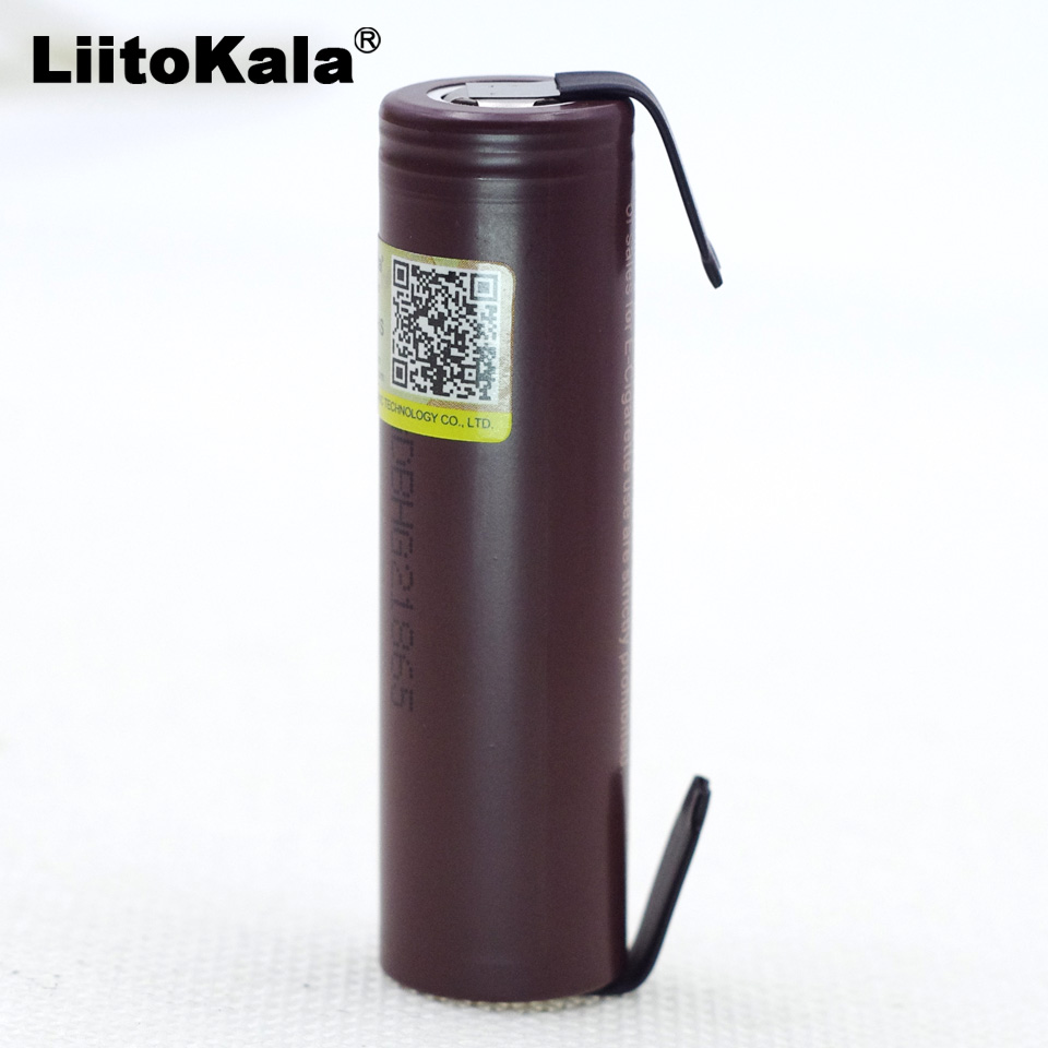 Liitokala HG2 18650 3000 mAh Electronic Cigarette Rechargeable Battery High-discharge, 30A high current + DIY nicke (welding) аккумулятор 18650 lg hg2 3000 mah 20a