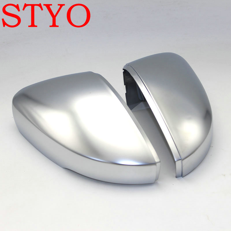 STYO Car Rearview Mirror Case Chrome Matt Cover Satin Finish Mirror Cover shell For VW POLO