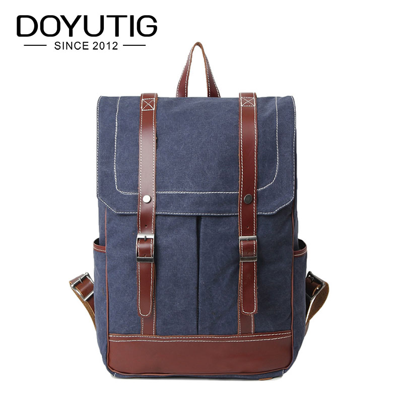 New Fashion Men & Women Backpack Vintage Canvas Double Shoulder Bags School Bag Men's Travel Bags Large Capacity Knapsacks H040 vintage canvas backpack men s and women s school bags male travel bagpack large capacity leisure college bags 2018 new fashion