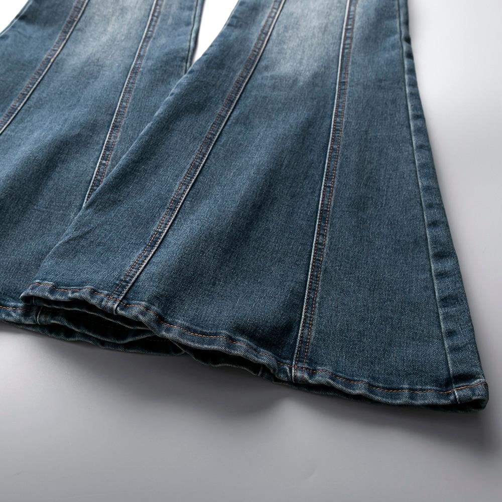 Cintura Pantalones 32 De Photo Trompeta Primavera Vaqueros Alta As Mujeres Moda La ¡plus Flare Oficina Nueva 2019 25 Tamaño Señoras FqRA0