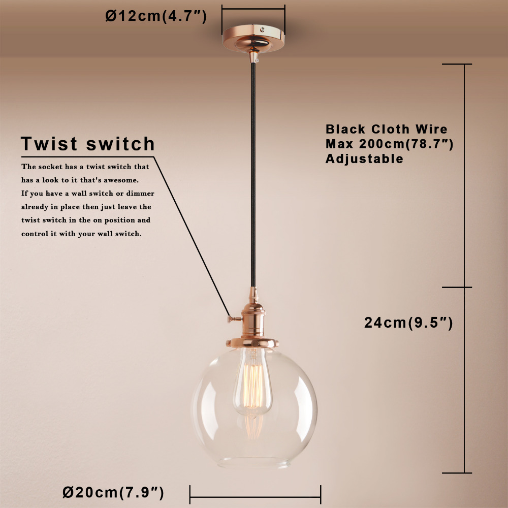 Permo french style glass pendant lights industrial pendant ceiling 2 x threaded rods 1 x mounting plate 2 x mounting screws 2 x cap nuts 1 x shade holder 1 x lamp shade 1 x socket collar keyboard keysfo Gallery