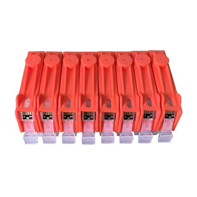 8 couleurs CLI-8 CLI8 cartouches dencre rechargeables puces de réinitialisation automatique pour Canon PIXMA PRO 9000 imprimante avec puces ARC