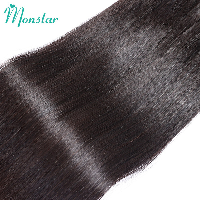 Monstar 1 PC Peruvian Straight Hair Bundles Unprocessed Virgin Human Hair Extension Natural Color Weave 8- 30 inch Free Shipping