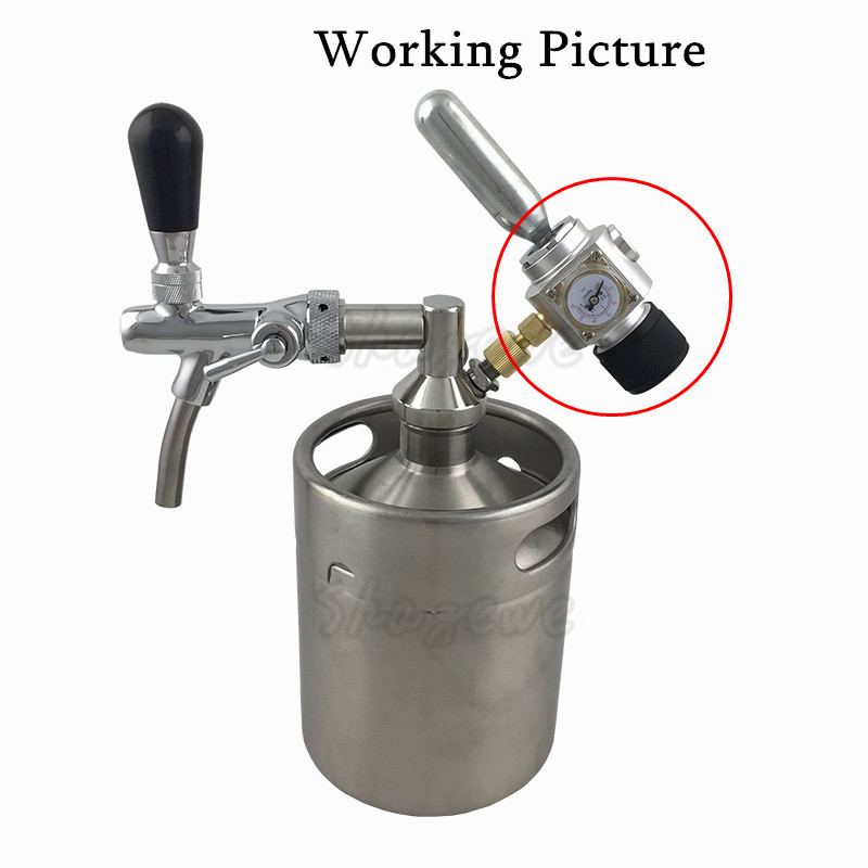 Homebrew CO2 Mini Gas Regulator 30PSI with 38 thread For Beer Brewing (1)