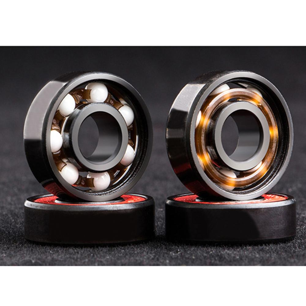 1pc High Precision 608 Deep Groove Ball Bearing Plate Ceramic Inline Speed Bearings For Finger Spinner Skateboard 22*7mm image