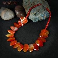 497f4c842071 KCALOE Fine Red Natural Agate Chocker Necklace Waterdrop Big Semi Precious  Stones Vintage Necklaces Accessories Colar