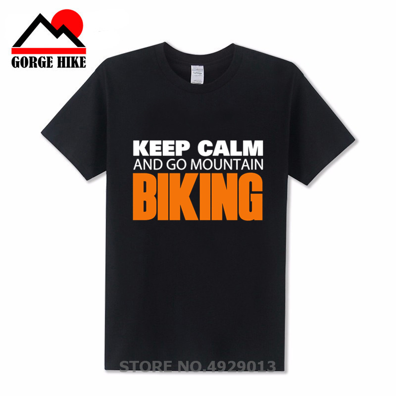 Funny Keep Calm and go Mountain <font><b>Biking</b></font> <font><b>Strava</b></font> T <font><b>shirts</b></font> men Aerobic Cycling T-<font><b>shirt</b></font> Mountain Biker tshirt MTB Bicycle Tee <font><b>shirt</b></font> image