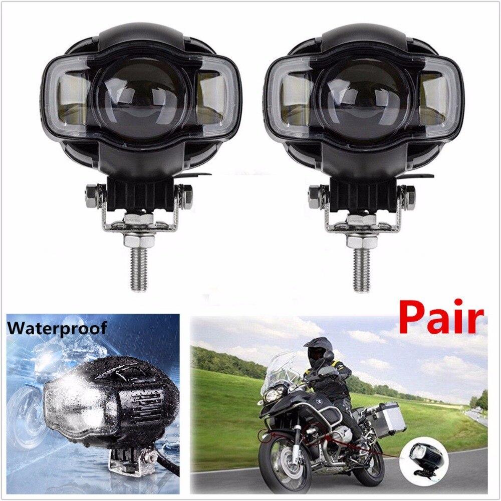 Krator 2PCS 20W 2000LM Waterproof Motorcycle LED Spot Driving Fog font b Lamp b font DRL