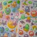 35-60 UNIDS/Hoja Puffy Pegatinas de Dibujos Animados Pegatinas de Burbuja 3D Pegatinas de Burbuja Del Bebé Lindo Niños Juguetes de Regalo de Navidad XQ20