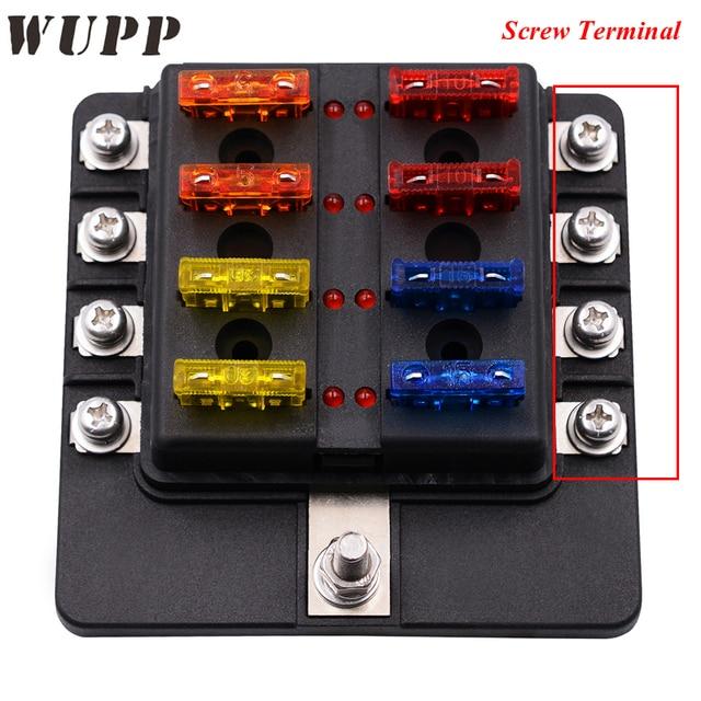 auto 32v 8 way fuse box block waterproof fuse holder box. Black Bedroom Furniture Sets. Home Design Ideas