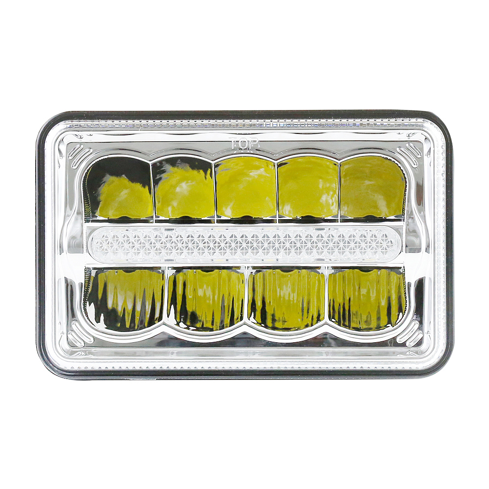 1 Pair Headlights 4x6 inch LED Square Sealed Beam Truck Lamp With DRL Hi/Lo Beam Light For Ford 2pcs 4x6 inch square head light work light high low beam for chevy camaro for ford mustang forklift truck off road
