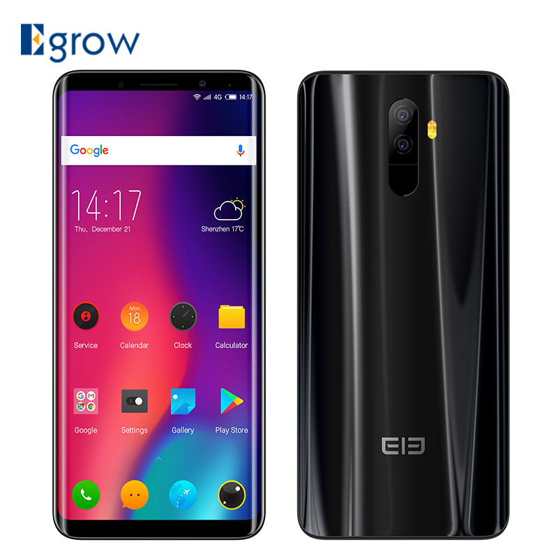 Elephone U Pro 4g Smartphone 5.99 ''Android 8.0 Qualcomm Snapdragon 660 Octa Core 6 gb RAM 128 gb ROM 13MP + 13MP Double Arrière Caméras