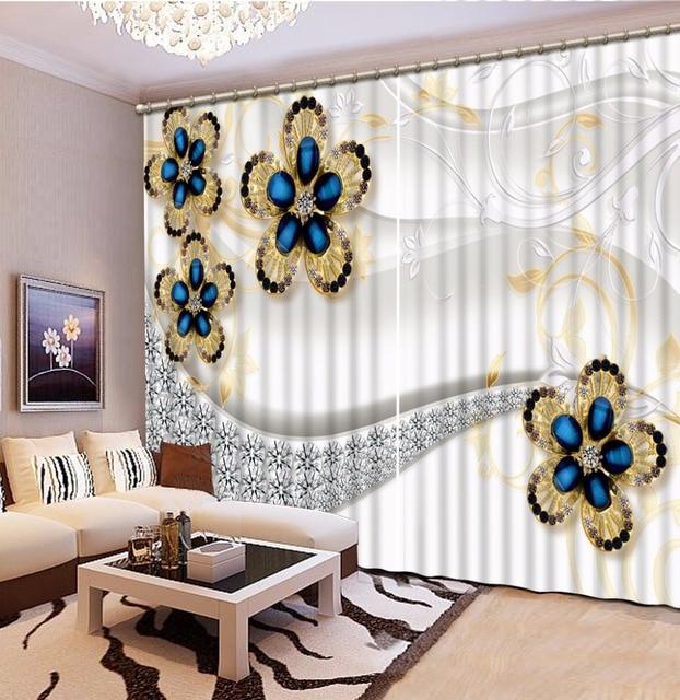 Luxe Européenne Moderne relief rideau pays chambre rideaux décor à ...