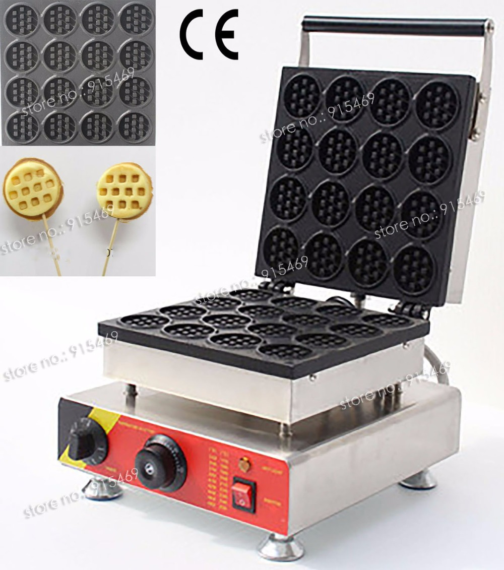 Free Shipping Commercial Use Non-stick 110V 220V Electric Mini Waffle Maker Baker Iron Machine free shipping commercial use non stick 110v 220v electric 8pcs square belgian belgium waffle maker iron machine baker