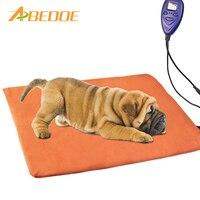 ABEDOE pet heizdecke wasserdichte anti-bite heizkissen thermostat hund katze 12 V niederspannungs heizung elektro pad