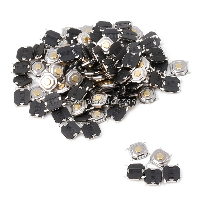 100 x Waterproof Microswitch Tactile Tact 4 Pin Push Button Switch Momentary SMD G08 Drop ship