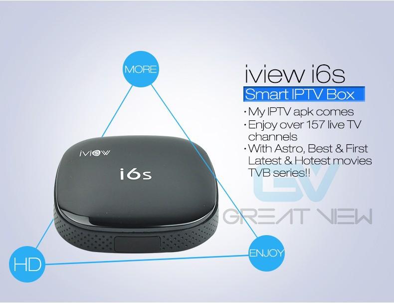 Android TV Box iview S6 plus RK3128 Quad Core H 265