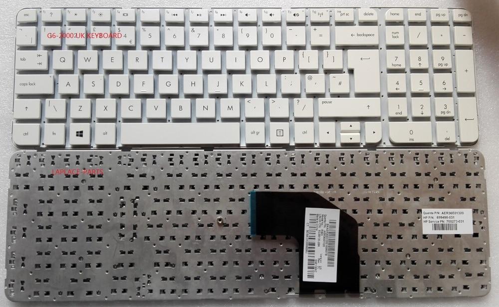 Frame AER36E01320 699498-031 700273-031 NEW HP Pavilion G6-2000 UK Keyboard